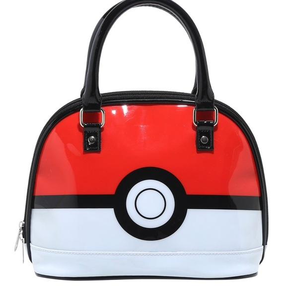 ce168a00d87 ♥️Loungefly Pokémon Poke Ball Patent Dome Purse♥️ NWT